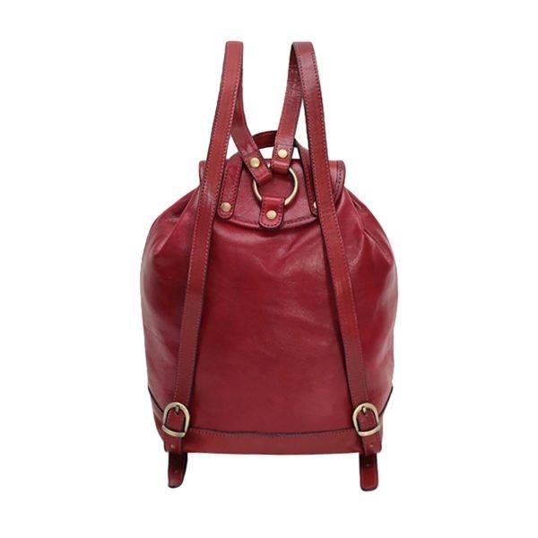 großer leder rucksack damen rot made in italy