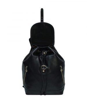 großer leder rucksack damen schwarz italienische Mode