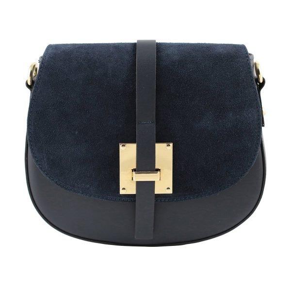 handtasche damen leder blau