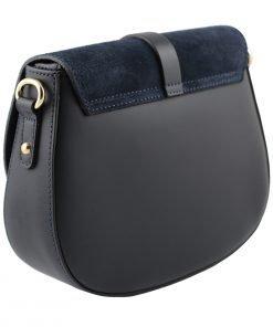 handtasche damen leder blau fantini pelletteria