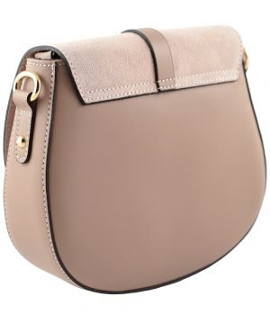 handtasche damen leder rosa made in italy