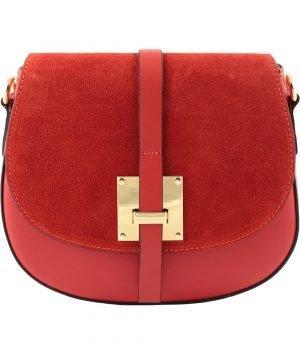 handtasche damen leder rot