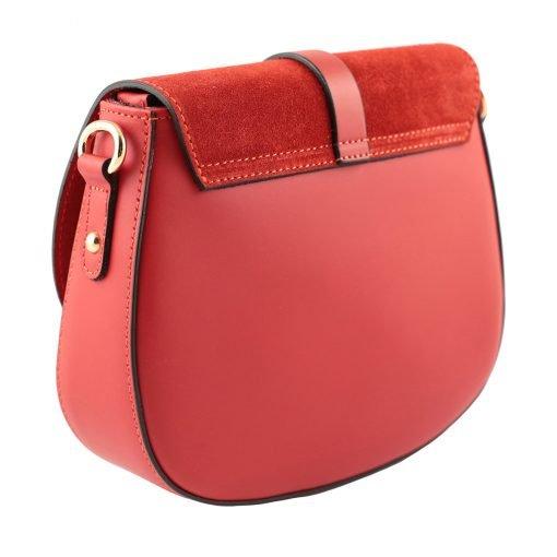handtasche damen leder rot made in italy