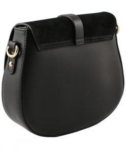 handtasche damen leder schwarz made in italy