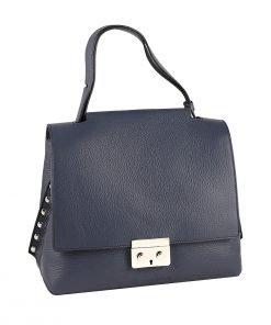 handtasche leder blau