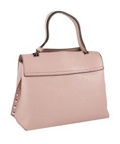 handtasche leder rosa fantini pelletteria