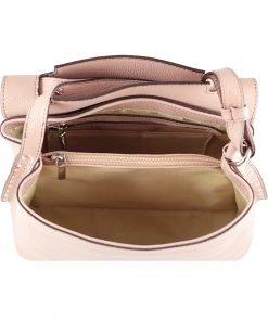 handtasche leder rosa made in italy