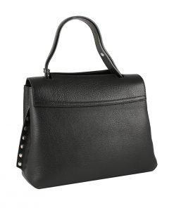 handtasche leder schwarz fantini pelletteria