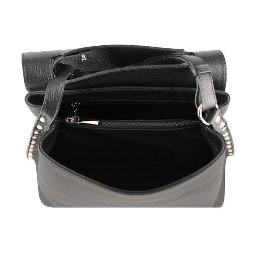 handtasche leder schwarz made in italy