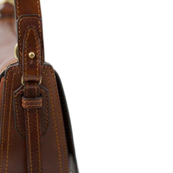 handtasche umhängetasche ledertasche braun Italienische Mode