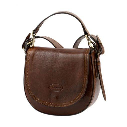 handtasche umhängetasche ledertasche braun made in italy