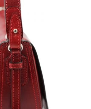 handtasche umhängetasche ledertasche rot italienische mode
