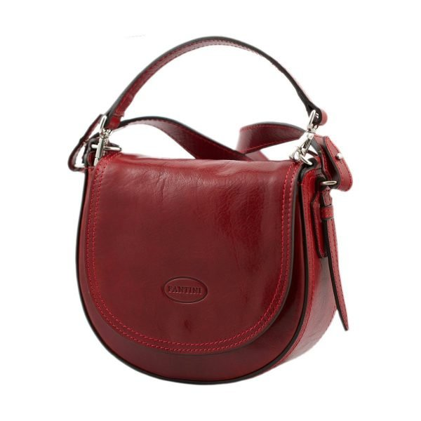 handtasche umhängetasche ledertasche rot made in italy