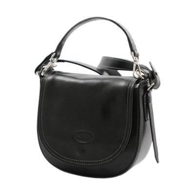 handtasche umhängetasche ledertasche schwarz made in italy