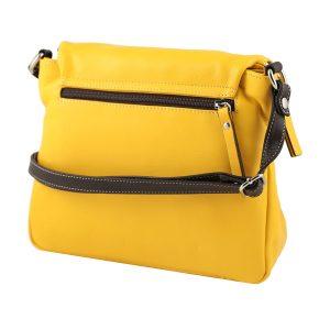 handtaschen shopper leder gelb made in italy