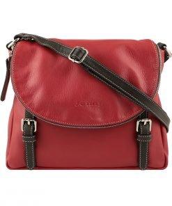 handtaschen shopper leder rot