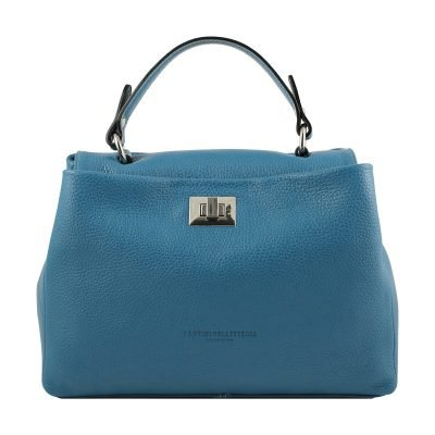hellblau ledertasche damen shopper