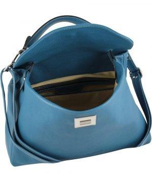 hellblau ledertasche damen shopper ledertasche shopper