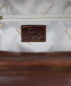 italian unisex leder rucksack braun Genuine Leather