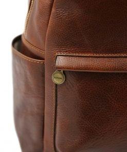 italian unisex leder rucksack braun made in italy