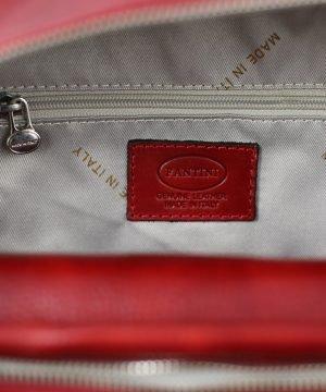 italian unisex leder rucksack rot echtes Leder