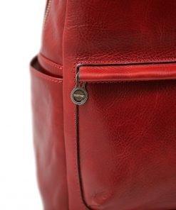 italian unisex leder rucksack rot fantini pelletteria