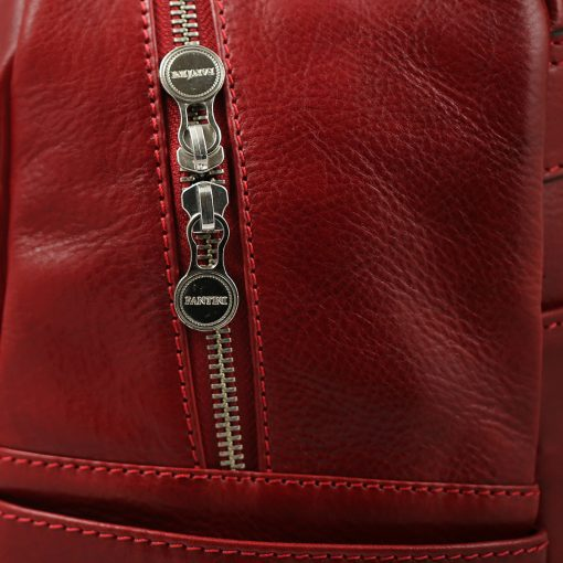 italian unisex leder rucksack rot italienische Mode