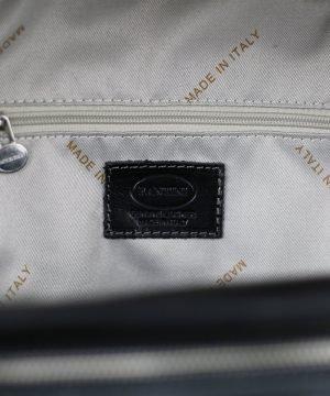 italian unisex leder rucksack schwarz echtes Leder