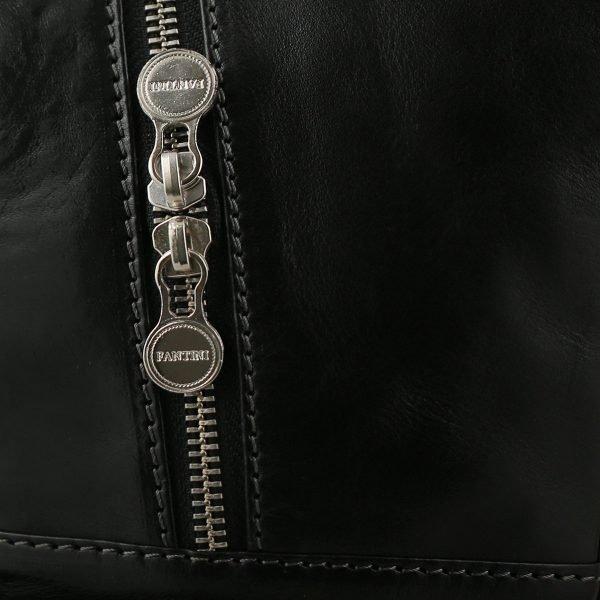 italian unisex leder rucksack schwarz fantini pelletteria