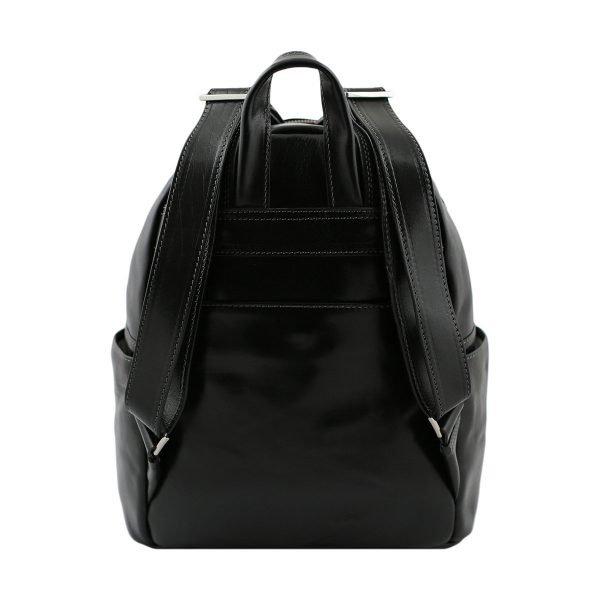 italian unisex leder rucksack schwarz italienische Mode