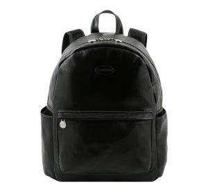 italian unisex leder rucksack schwarz italienischer Mode Rucksack