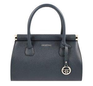 italienische lederhandtaschen dunkelblau