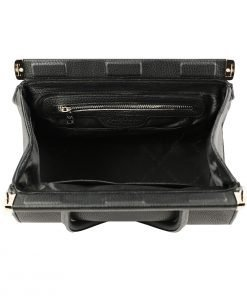 italienische lederhandtaschen schwarz fantini pelletteria