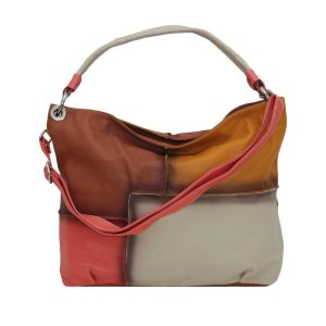 italienische ledertaschen damen lachsfarbe