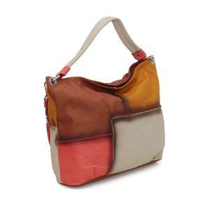italienische ledertaschen damen lachsfarbe fantini pelletteria