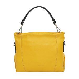 italienische ledertaschen florenz gelb