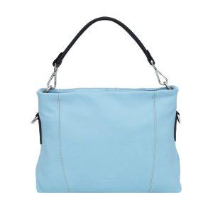 italienische ledertaschen florenz hellblau