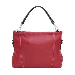 italienische ledertaschen florenz rot