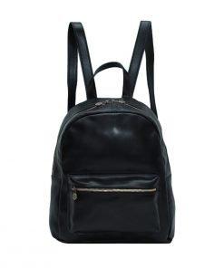 italienische mode leder rucksack schwarz