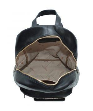 italienische mode leder rucksack schwarz Innen Rucksack