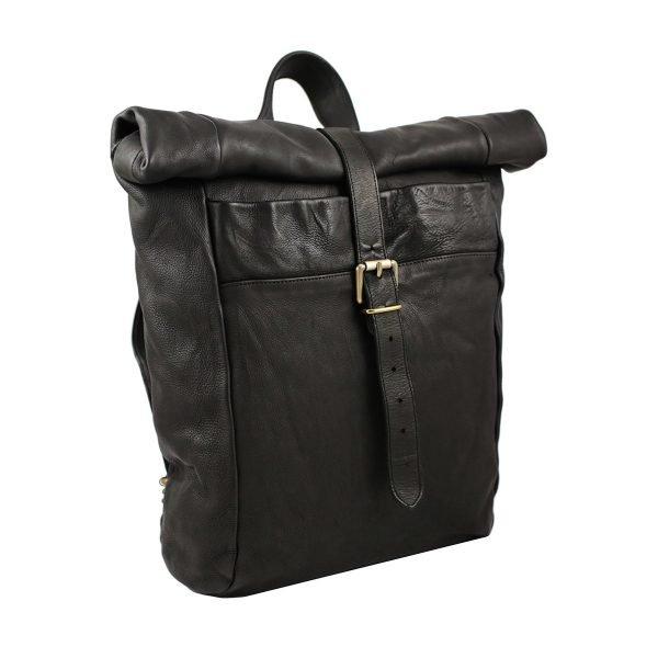 italienische mode rucksäcke schwarz Leder Rucksack