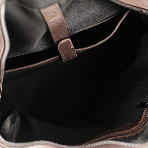 italienischer leder rucksack für herren Leder Rucksack braun