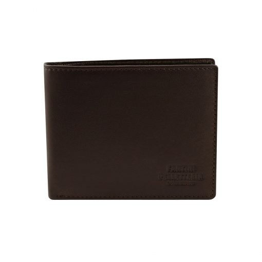 kleine leder brieftasche für männer dunkelbraun