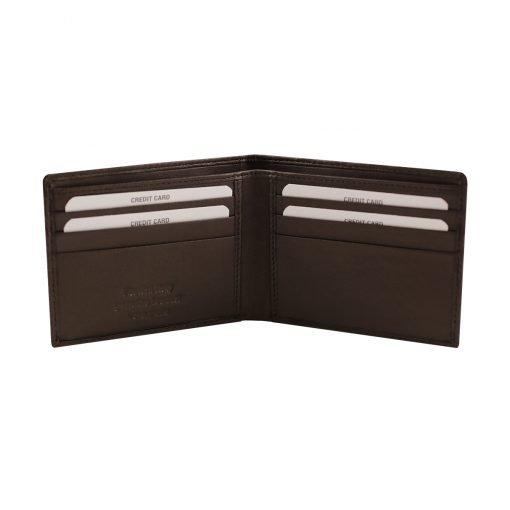 kleine leder brieftasche für männer dunkelbraun fantini lederwaren