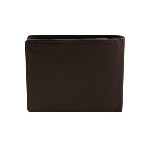 kleine leder brieftasche für männer dunkelbraun made in italy