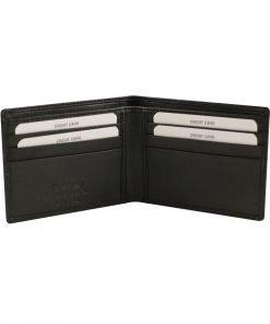 kleine leder brieftasche für männer schwarz fantini lederwaren
