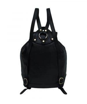 kleine leder rucksäcke damen schwarz Italienische Ledermode