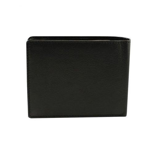 leder brieftasche herren italienisches schwarz made in italy