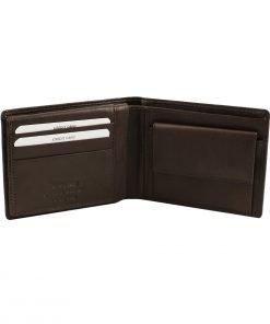 leder brieftasche mit großer geldbörse dunkelbraun echtes leder