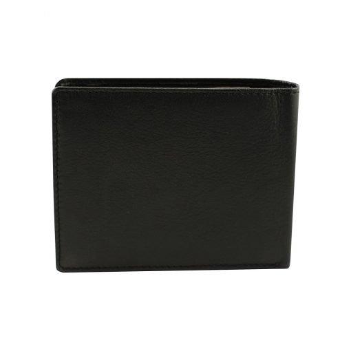 leder brieftasche mit großer geldbörse schwarz made in italy
